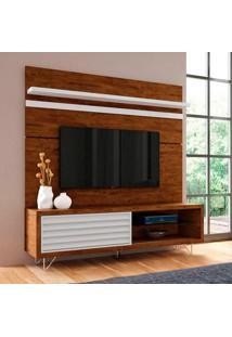 Rack Com Painel Para Tv 70 Polegadas Venezza Canyon E Branco 180 Cm