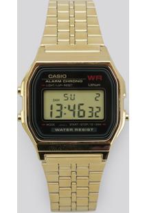 Relógio Digital Casio Feminino - A159Wgea1Df Dourado - Único