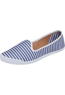 Slipper Fiveblu Biqueira Azul/Branco