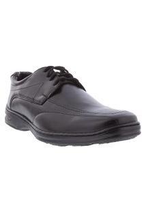 Sapato Social Valença Detalhe Em Pespontos Preto