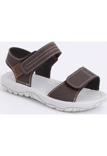 Sandália Infantil Listras Velcro Batatinha