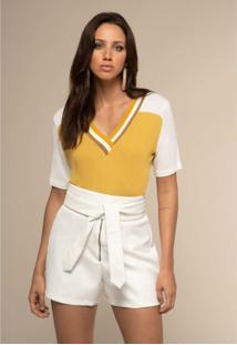 T-Shirt Acostamento Tricot Amarelo