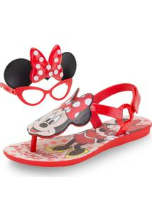 Sandália Infantil Feminina Minnie Grendene Kids - 22160 Vermelho 25