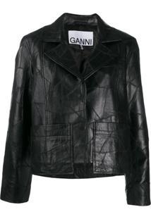 Ganni Patchwork Jacket - Preto