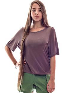 Camiseta Muká Oversized Em Malha Nuance Rosa
