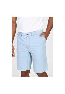 Bermuda Jeans Lacoste Chino Padronagens Azul