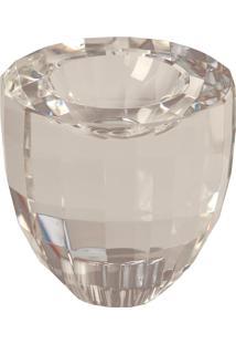 Castiçal De Cristal Wagner Para 1 Vela