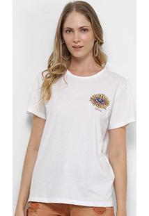 Camiseta Colcci Bordada Feminina - Feminino