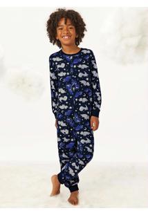 Pijama Estampado Macacão Dino
