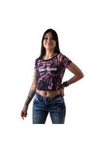 Camiseta Cropped Feminina Overfame Tie Dye Terroso Md37