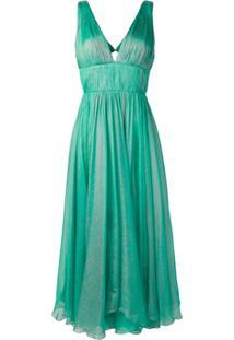 Maria Lucia Hohan Vestido Acinturado Com Pregas - Verde