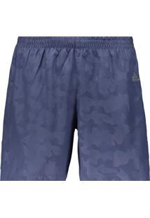 Short Adidas Run It Urban Camo Azul