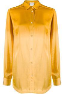 Forte Forte Camisa Com Modelagem Solta - Dourado