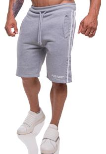 Bermuda Moletom Top Fit Premium Cinza