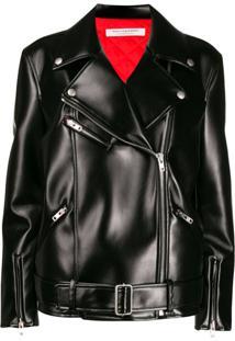 Philosophy Di Lorenzo Serafini Oversized Biker Jacket - Preto