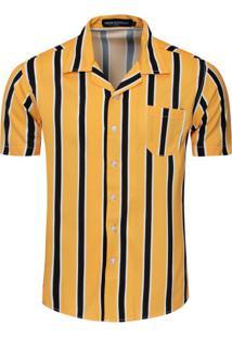 Camisa Estampada Old Stripes - Amarela