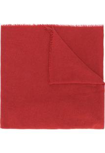 Faliero Sarti Cachecol Oversized De Cashmere Com Franjas - Vermelho