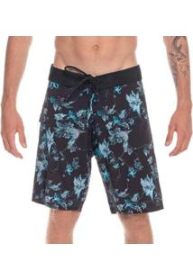 Boardshort Mormaii Masculino - Masculino-Azul+Preto