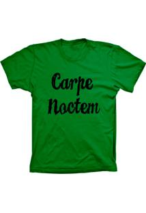 Camiseta Baby Look Lu Geek Carpe Noctem Verde