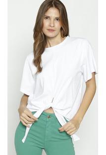 Camiseta Com Amarraã§Ã£O - Branca - Colccicolcci