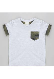 CEA. Camiseta Infantil Com Bolso Estampado Camuflado Manga ... 11d691623052b