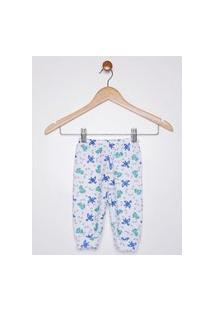 Pijama Ceroulinha Soft Infantil Para Bebê Menino - Branco