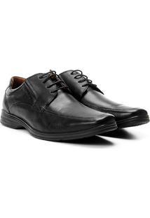 Sapato Social Couro Ferracini Básico React Masculina - Masculino