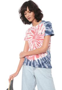 Camiseta Volcom Zipn N Tripn Rosa/Azul