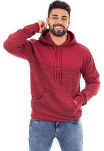 Casaco De Malha Com Bolso Sumaré Masculino - Masculino-Vermelho