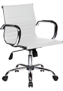 Cadeira De Escritório Diretor Giratória Eames Best Branca