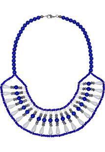 Colar Le Diamond Resinas Azul Royal
