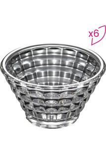 Conjunto De Saladeiras Diamond- Cristal- 6Pçs- Rrojemac