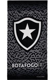Toalha De Banho Bouton Botafogo Veludo Preta
