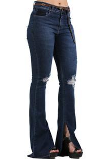 88d247ecd Calça Assimetrica Fenda feminina | Shoes4you