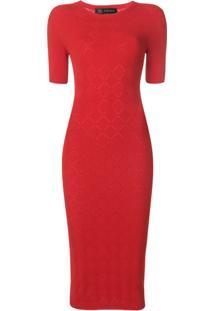 Versace Vestido De Tricô - Vermelho