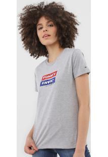Camiseta Tommy Jeans Logo Cinza - Kanui