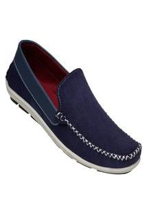 Mocassim Dockside Casual Mr Try Shoes Slip On Azul