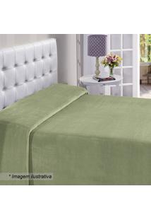 Manta Flanel King Size- Verde- 220X240Cm- Buettnbuettner