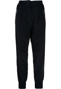 Haider Ackermann High-Waisted Track Pants - Azul