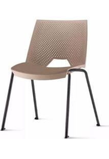 Cadeira Strike Assento Bege Base Preta - 54069 Sun House