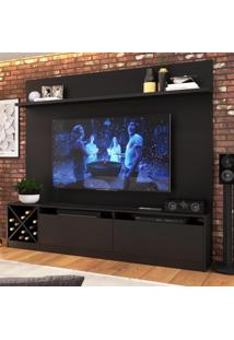 Estante Para Tv Até 60 Polegadas 2 Portas 2023 Ptx Preto - Quiditá Móveis