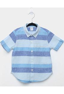 Camisa Infantil Gap Listrada Masculina - Masculino