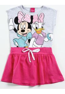 Vestido Infantil Estampa Minnie Margarida Disney