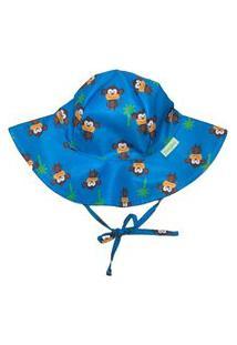 Chapéu Infantil Fpu 50+ Eco&Play Macaco Azul