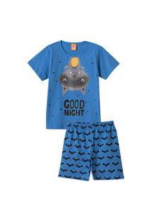 Conjunto Pijama Kids Good Night Azul