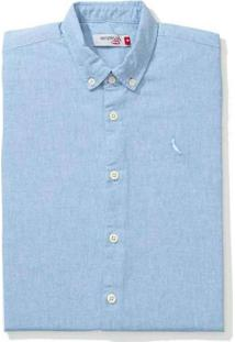 Camisa Mini Pf Mc Oxford Color Reserva Mini Cinza