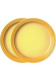 Prato Sobremesa 2 Peças 15 Cm Amarelo Soleil Le Creuset