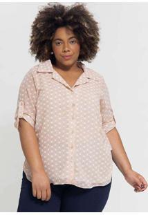 Camisa Ampla Almaria Plus Size Pianeta Estampada B