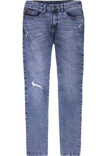 Calça Jeans Skinny Masculina Em Algodão Eco Denim
