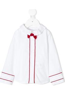 Lapin House Camisa Com Detalhe De Laço - Branco